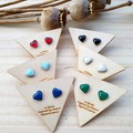 Tiny Heart Earrings in various colours