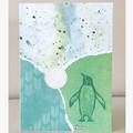 Proud penguin card
