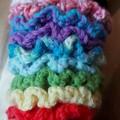 Coral Crochet Hair Scrunchie