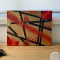 """""""Fired Up"""" Abstract Art Piece on Canvas"""