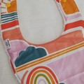 Retro Sun and Rainbow Dribble Bib