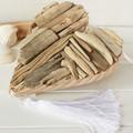 Coastal driftwood heart with white tassel