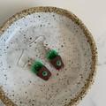 """Pot Plant"" Handmade Drop Earrings"