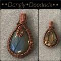 Blue Labradorite & Copper Pendant Small