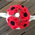 Poppy TEA COSY, 100% Australian wool, fits 4-6 cup teapot, free shipping