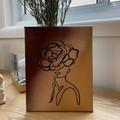 Bronzed Flourishing Flower Lady Canvas