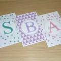 Happy Birthday card - personalised monogram