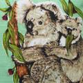 Australian Koalas & Gum Leaves Cushion
