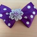 Purple Bow on Clip