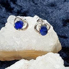 Designer sterling silver and Australian Opal stud earrings.
