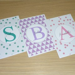 Happy Birthday card - personalised monogram