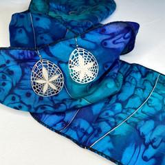 Sand dollar stainless steel earrings