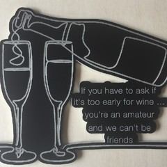 Humorous Fridge Magnet - 'If you have to ask ...'