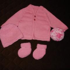 Baby Jacket/Cardigan/Booties/Beanie/Ball