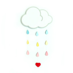 Cloud with silver lining children's mobile