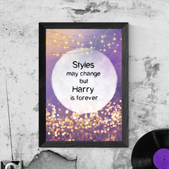 'Harry Styles' - Typography Artwork, Instant Download Printable