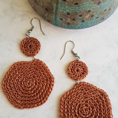 Hexagon Crochet Earrings