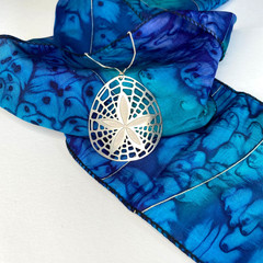 Sand dollar stainless steel pendant necklace