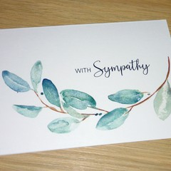 Sympathy card - eucalyptus leaves