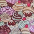 Cupcake print scrunchie - hair accessory