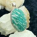Amazing Amazonite! 925 silver oval handmade pendant.