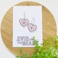 Pink Leopard Heart Hoop Dangles