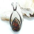 Flashy Australian Opal Silver Teardrop Pendant