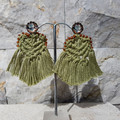 Handwoven Cotton Macrame Statement Earrings with Japanese Miyuki Seed Beads