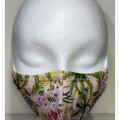 Pretty pink possum triple layered fitted face mask, made in Australia