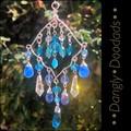 Small Blue Glass Suncatchers