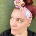 Pink Chihuahua Boho Wire Headband, Wire Headscarf, Twist Headband