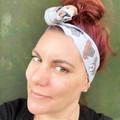 Boxer Dog Boho Wire Headband, Wire Headscarf, Twist Headband