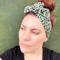 Green Leopard Boho Wire Headband, Wire Headscarf, Twist Headband