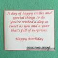 Flower Children's Birthday Card
