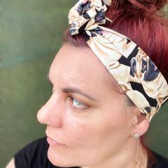Pug Boho Wire Headband, Wire Headscarf, Twist Headband