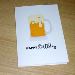 Male Happy Birthday card - Beer Mug