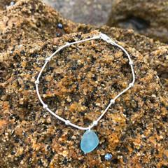 Ocean Teal Seashore Ball Bracelet