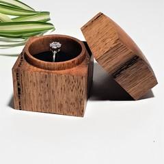 Handmade  Square wooden  ring box, Engagement ring box. Wedding ring box,