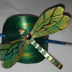 Hair barrette/slide dragonfly