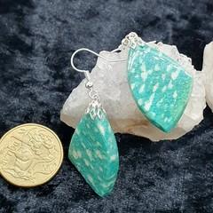 Gorgeous Amazonite Dangle Earrings!