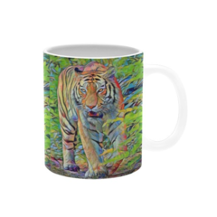 Fearless Tiger , Pastel Drawing. Coffee Mug .Price includes delivery