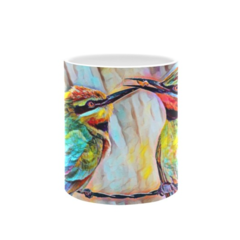 Bee Eaters (Bee in Beak) Oil painting. Coffee Cup. Free Delivery