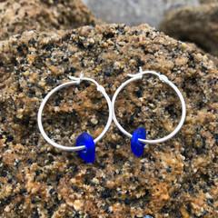Cobalt Shores Hoop Earrings