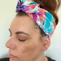Satin Boho Wire Headband, Wire Headscarf, Twist Headband