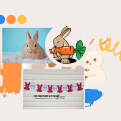 Bunny and Egg Felt Bunting