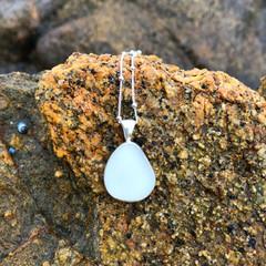 White Sands Sea Glass Pendant