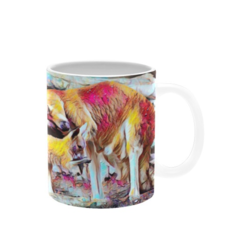 Kangaroon And Joey Oil Painting. Coffee Cup. Free Delivery