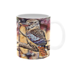 Cheeky Kookaburra Oil Painting. Mug. Price Includes Delivery
