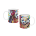 Posing Panda Oil Painting. Coffee Cup. Free Delivery