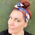 Labrador Boho Wire Headband, Wire Headscarf, Twist Headband